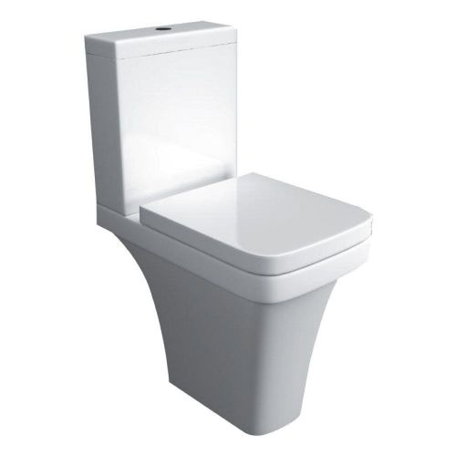 Supreme 600 Comfort Height Raised Close Coupled Toilet & Soft Close Seat